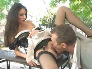 Maid,Big Ass,Blowjob,Brunette,Hardcore,High Heels,Latex,Outdoor,Small Tits,Stockings,Uniform,Ass licking,Beautiful,Slut