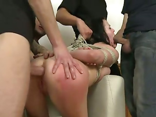 Gangbang,Big Ass,BDSM,Big Boobs,Blowjob,Brunette,Fetish,Hardcore,Doggystyle