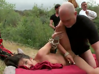 Extreme,Gangbang,Big Ass,BDSM,Big Boobs,Brunette,Hardcore,Outdoor,Tattoo,Slut,Shaved,Anal