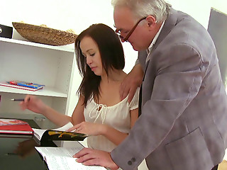 Old and young,Big Boobs,Blowjob,Brunette,Mature,Panties,Teen,Shaved