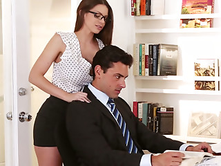 Secretary,Glasses,Big Ass,Babe,Big Boobs,Office,Panties,Redhead