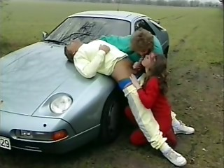 Gym,Vintage,Blonde,Blowjob,Handjob,Outdoor,Threesome