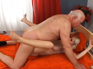Old and young,Mature,Blonde,Blowjob,Shaved,Big Boobs,Big Cock