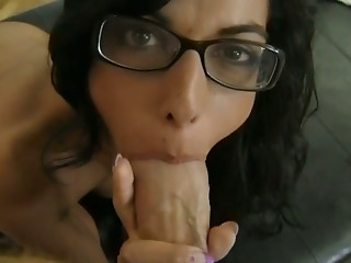Glasses,Anal,Babe,Big Cock,Blowjob,Brunette,Hardcore,POV,Doggystyle,Big Ass