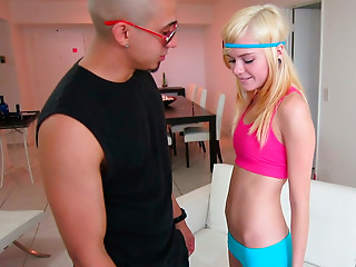 Gym,Babe,Blonde,Petite,Small Tits,Teen