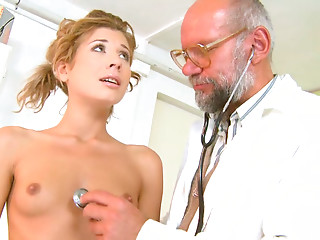 Doctor,Mature,Blonde,Blowjob,Close-up,Old and young,Small Tits,Teen,Shaved