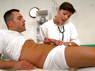 Big Cock,Uniform,Doctor,Extreme,Brunette,Handjob,MILF,Big Boobs,Blowjob