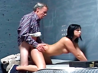 Old and young,Blowjob,Brunette,Mature,Teen,Doggystyle,Shaved,Babe,Big Boobs
