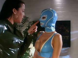 Latex,Shaved,Lesbian,Big Ass,BDSM,Big Boobs,Brunette,Lingerie,Sex Toys