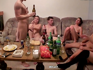 Drunk,Student,Doggystyle,Blonde,Blowjob,Brunette,Group Sex,Party,Russian