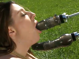 Machine,Slut,Hardcore,Outdoor,Sex Toys,Masturbation,BDSM,Big Boobs,Brunette,Double Penetration