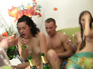 Drunk,Brunette,Group Sex,Hardcore,Lesbian,Party,School,Small Tits,Teen