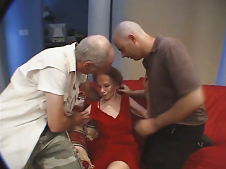 Grannies,Threesome,Double Penetration,Hardcore,Lingerie,Redhead