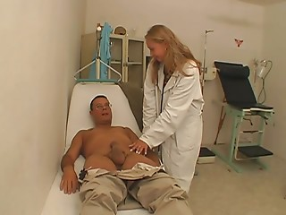 Doctor,Big Ass,Uniform,Doggystyle,Big Boobs,Big Cock,Blonde,Blowjob,Fingering,Hardcore,Stockings