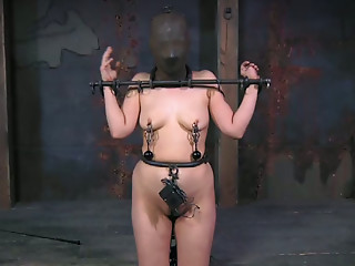 Masked,BDSM,Brunette,Small Tits,Natural