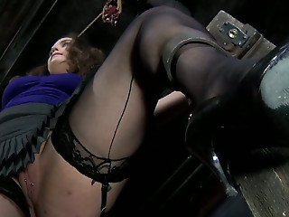 Upskirt,BDSM,Stockings,Chubby,Natural,Brunette,Slut