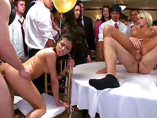 Jamie Valentine, Veronica Rodriguez and Rikki Six get mouthful
