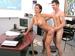Office,Facial,MILF,Pornstar,Doggystyle,Big Boobs,Blowjob,Brunette,Hardcore,Latina