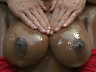 Oiled,Big Boobs,Big Cock,Black and Ebony,Blowjob,Softcore