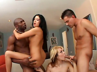 Group Sex,Blonde,Blowjob,Brunette,Hardcore,Interracial