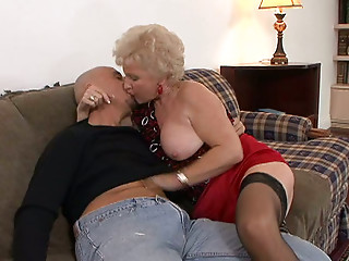 Stockings,Fingering,Blowjob,Grannies,Mature,Blonde