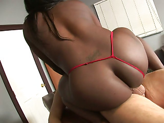 Sexy big booty nurse Hershey rides and blows big white cock