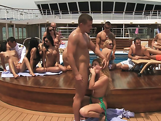Doggystyle,Group Sex,Hardcore,Outdoor,Pornstar,Small Tits,Blonde,Brunette,Cumshot,Facial,Fingering