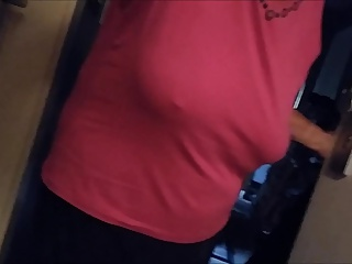 Braless saggy boobs on Granny Part 2