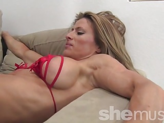 Ripped Maria G Whips Some Dudes Ass
