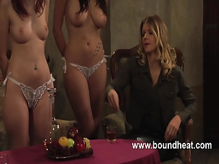 Lesbian slave whipped and used by mistress