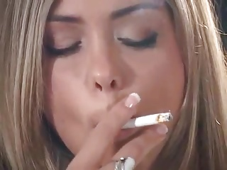 Smoking,Babe,Blonde