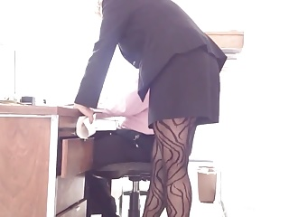 Pantyhose,Hidden Cams,Voyeur,Panties,Secretary