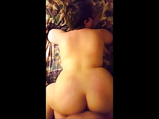 Gorgeous big ass BBW taking my fat cock