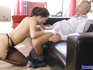 School,Threesome,Stockings,Blowjob,British,MILF,Money