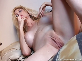 Smoking,Mature,MILF,Big Boobs