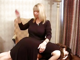 Spanked with Hand,Hairbrush and Strap