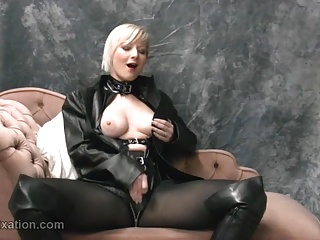 Masturbation,Latex,Big Boobs,Blonde,British