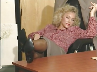 British,Blonde,Vintage,Masturbation