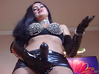 mistress in leather dominates you