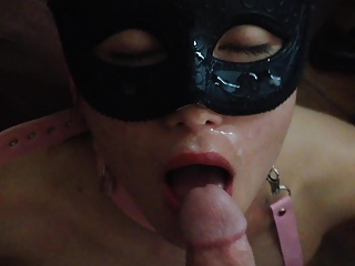 Masked,Facial,Big Cock,Blowjob