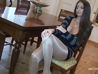 Stockings,Masturbation,Panties,Orgasm,Pantyhose