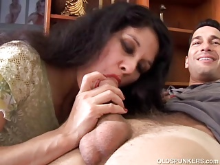 Old and young,Latina,MILF,Brunette,Cumshot,Hardcore,Mature