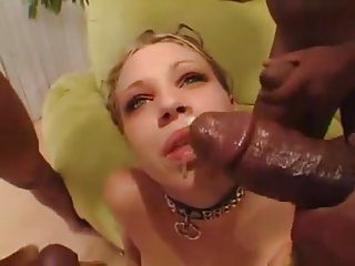 Black and Ebony,Blonde,Interracial