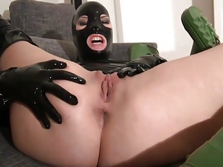 Latex,High Heels,Masturbation