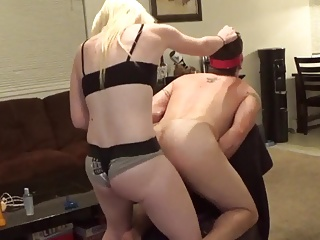 Strapon,Blonde,Cumshot