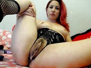 BBW,Clit,Stockings,Sex Toys,Redhead