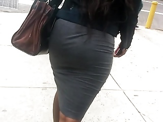 Dress,Voyeur,Big Ass,Black and Ebony,Close-up