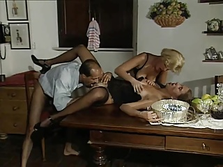 Threesome,Vintage,Blowjob,Cumshot