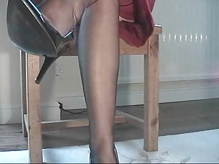 Upskirt,Fetish,Foot Fetish,High Heels,Stockings
