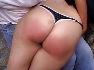 Spanking,Big Ass,Outdoor